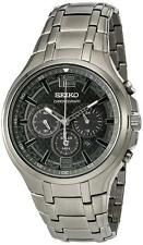 Seiko SSC453P9 Gents 100m Gun Metal Grey Chronograph Date Watch RRP £299