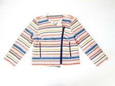 TRINA TURK WOMENS BEATRIX WOVEN MULTI COLOR GEOMETRIC L/S SWEATER JACKET 10 $328