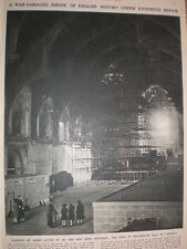 Photo article repairs to roof of Westminster Hall London 1947