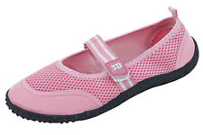 Star Bay Womens Water Shoes Aqua Socks Hook Loop Slip on Pool Yoga Exercise Pink