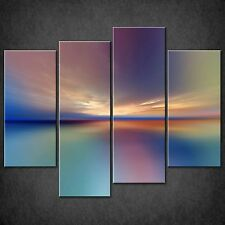 ABSTRACT SUNSET SPLIT CANVAS WALL ART PICTURES PRINTS LARGER SIZES AVAILABLE