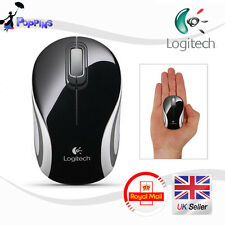 Nuevo Logitech M187 Wireless Mini Mouse Negro Reino Unido Stock