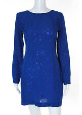 CUSHNIE ET OCHS Bright Blue Long Sleeve Open Back Cut Out Detailed Dress Sz 2