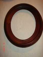 OVAL WALNUT DEEP SET VICTORIAN PICTURE FRAME - NICE