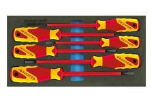 Gedore 2309173 - 1500 CT1-VDE 2170 PZ VDE Screwdriver set in 1/3 CT tool module