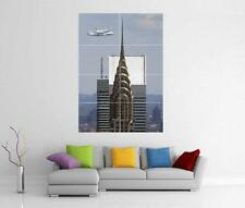 CHRYSLER BUILDING NEW YORK SPACE SHUTTLE 747 GIANT WALL ART PRINT POSTER H65