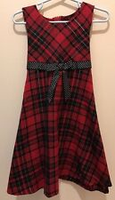 Ashley Ann Girl Dress, Christmas Holiday Red and Black, Sleeveless Size 4T