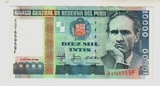 Peru'  10000 10.000 intis   1988  FDS   UNC     pick 141      lotto   1146