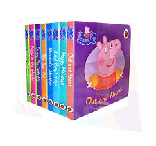 Peppa Pig Children's Picture Flat 8 Board Books Collection Set Happy Holidays...