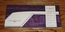 1964 Ford Thunderbird Owners Operators Manual 64