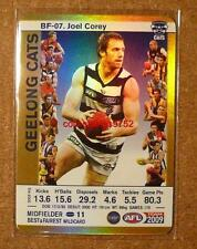 2009 AFL Teamcoach Best and Fairest BF-07 Joel Corey GOLD