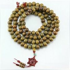 to do 108 12mm Green Sandalwood Prayer Beads Dharma Wheel Mala Necklace -50""