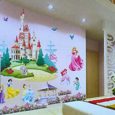 3D Princess Castle REMOVABLE Wall Sticker Vinyl Mural Decals Girls Nursery Decor