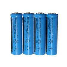 4 Pcs 1200MAH 3.7V 14500 AA Li-ion Rechargeable Battery Blue