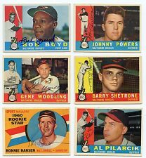 Lot Of 16 Dif Signed 1960 Topps Baltimore ORIOLES    Boyd, Powers +++   KOA