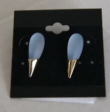 Alexis Bittar Gold plated Spike Stud Earrings - BlueOpal - NWT  NWT