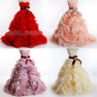 NEW Train Wedding Dress Quinceanera Formal Prom Party Pageant Ball Gown 4 color