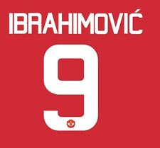 Ibrahimovic 9 Manchester United 2016-2017 Europa Home Football Nameset for shirt