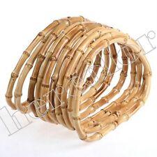 5 Pairs Bamboo Wood Hand Bag Handbag Handles Handbars