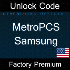 Unlock Code MetroPCS Samsung Galaxy Mega Light S4 S5 Avant