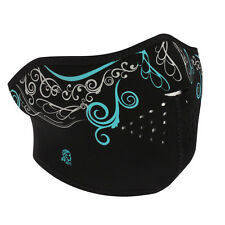 Zan Neoprene Glow in the Dark Venetian Half Mask Biker Motorcycle