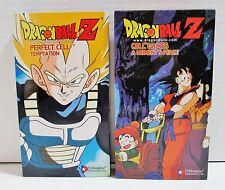 Dragon Ball Z VHS Tapes - Perfect Cell Temptation & Cell Games A Moments Peace