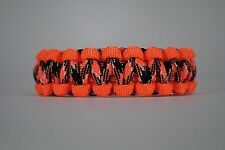 550 Paracord Survival Bracelet Cobra Orange/Orange Camo Camping Tactical