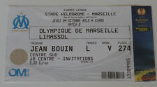 OLD TICKET EL Olympique Marseille OM France AEL Limassol Cyprus
