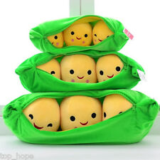 Smiling Little Peas Plush Toy Doll 3 Peas in a Pod Pea Soft Stuffed Kids Toy
