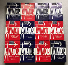 (1) Original Box (12 packs) VTG Sealed Vintage Aviator 914 Playing Cards - READ!