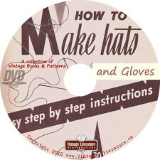 How To Make Gloves & Hats {Vintage Sewing, Knitting & Crochet Books} on DVD