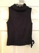 Guess Collection Women's Rayon Blend Metallic Turtleneck Top. Size Small
