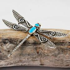 "LEE CHARLEY Navajo ""Water Dragonfly"" Necklace Pendant & Pin Sterling Silver"