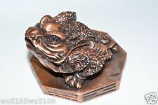 Feng Shui Chinese Money Frog Oriental Good Luck Statue Three Legs bring Wealth