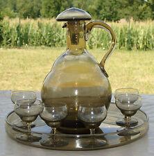 Daum - Service à liqueur en cristal, années 1950. Signé