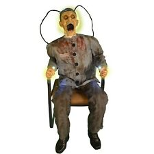 Death Row Electrocuted Prisoner Animated Prop, HALLOWEEN, Creepy Decoration