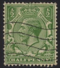 [JSC]1912–24 British King George V 1/2d grn Postage & Revenue