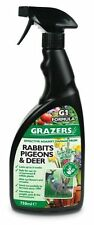 Grazers Natural Pigeon Rabbit Deer Geese Deterrent 750ml Garden Outdoor Spray