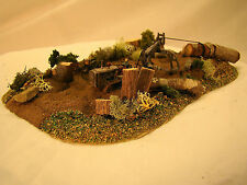 Logging Bulldozer Diorama - custom weathered after historic pictures - HO scale