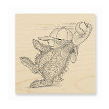 HOUSE MOUSE RUBBER STAMPS HAPPY HOPPERS GREAT CATCH STAMP