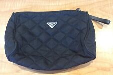 Prada Black Nylon Quilted Cosmetic Bag