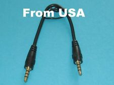 1Ft 24k Gold Plated Shielded 3.5mm Stereo Audio Car Cable Cord Phone M/M MP3 AUX