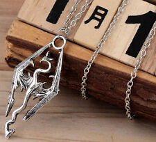 Necklace sky Elder Scrolls Dragon Pendant Vintage gamer gift chain UK game