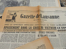 a group of newspapers vietnam war era  as a lot   french  teacher aid !?