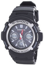 Men's Black G-Shock Analog Digital Grey Dial Black Rubber Strap 5230 AWGM100-1A