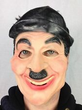 Charlie Chaplin Latex Face Mask Black & White Silent Movies Fancy Party Masks