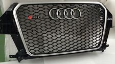 AUDI Q3  TO RSQ3, FRONT GRILL, GLOSS BLACK WITH CHROME EDGE ** UK STOCK ** SQ3