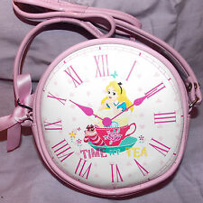 DISNEY ALICE IN WONDERLAND CLOCK FACE Shoulder Bag Purse Girls Primark Kawaii