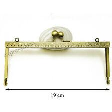 Fermoir pour Porte Monnaie Bourse Sac DIY Coloris Bronze Métal L19 cm