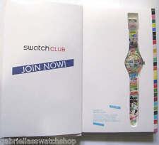 WHITE LOOP! Swatch Colorful NEW GENTS 2014 Club SPECIAL PATTERN BOOK Pack-NIP!